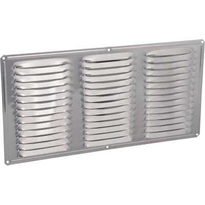 Air Vent 16 In. x 8 In. Mill Aluminum Under Eave Vent