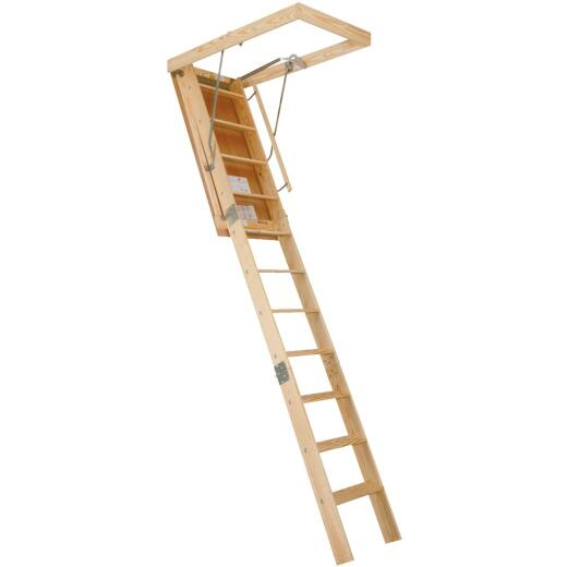 Louisville Champion 8 Ft. 9 In. to 10 Ft., 25-1/2 In. x 54 In. Wood Attic Stairs, 300 Lb. Load
