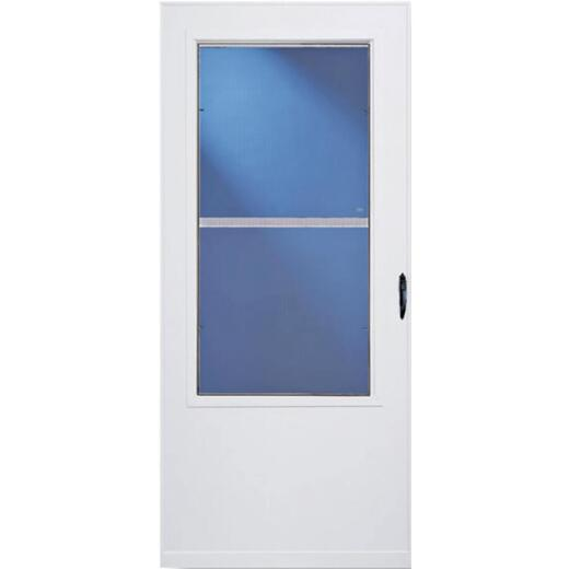 Larson Lifestyle MULTI-VENT 32 In. W. x 80 In. H. x 1 In. Thick White Mid View DuraTech Storm Door