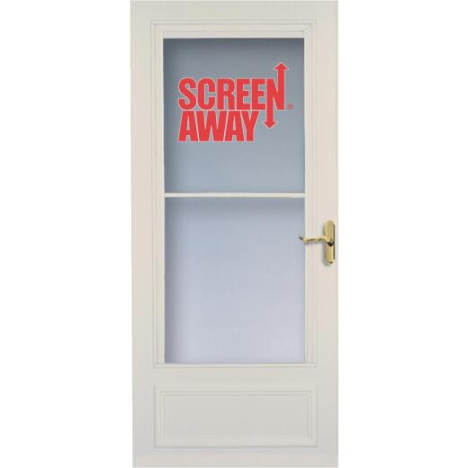 Larson Screenaway Lifestyle 36 In. W. x 80 In. H. x 1 In. Thick Almond Mid View DuraTech Storm Door