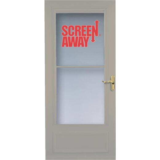 Larson Screenaway Lifestyle 36 In. W. x 80 In. H. x 1 In. Thick Sandstone Mid View DuraTech Storm Door