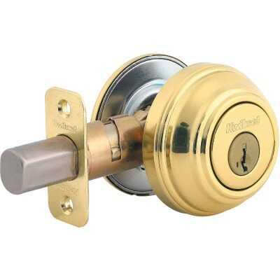 Kwikset Signature Series Polished Brass Single Cylinder Deadbolt