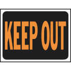 Hy-Ko Plastic Sign, Keep Out Image 1