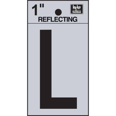 Hy-Ko Vinyl 1 In. Reflective Adhesive Letter, L