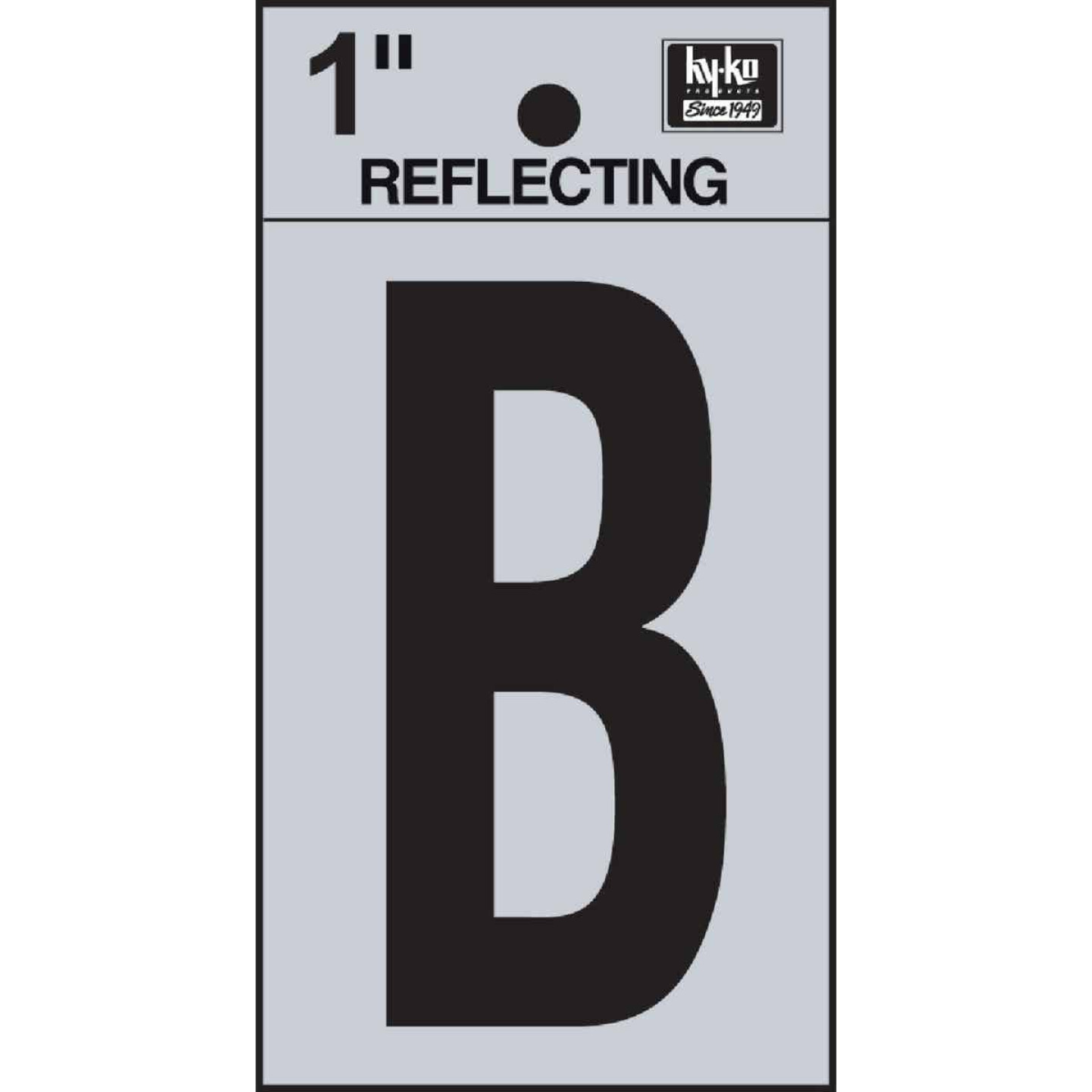 Hy-Ko Vinyl 1 In. Reflective Adhesive Letter, B Image 1