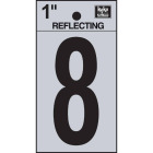 Hy-Ko Vinyl 1 In. Reflective Adhesive Number Eight Image 1