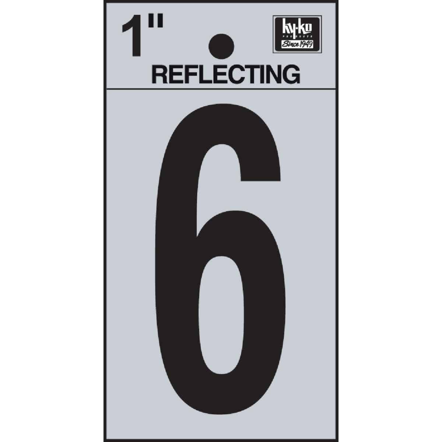 Hy-Ko Vinyl 1 In. Reflective Adhesive Number Six Image 1