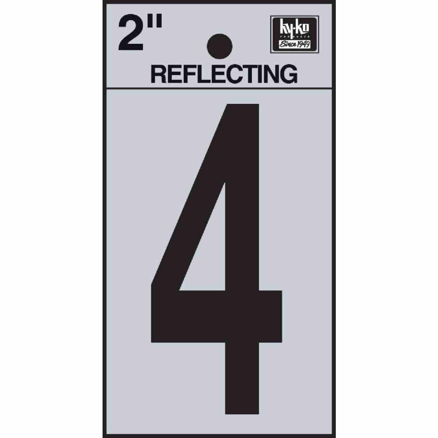Hy-Ko Vinyl 2 In. Reflective Adhesive Number Four Image 1
