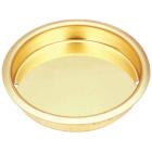 National 1-3/4 In. Dia. Brass Cup Pocket Door Pull Image 1