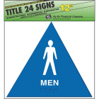Hy-Ko Plastic Restroom Sign, Men Image 1