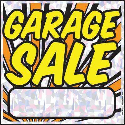 Hy-Ko Plastic Sign, Garage Sale