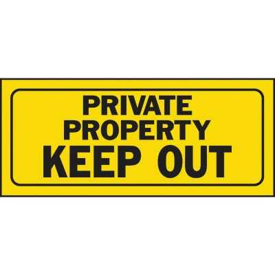Hy-Ko Plastic Sign, Private Property Keep Out