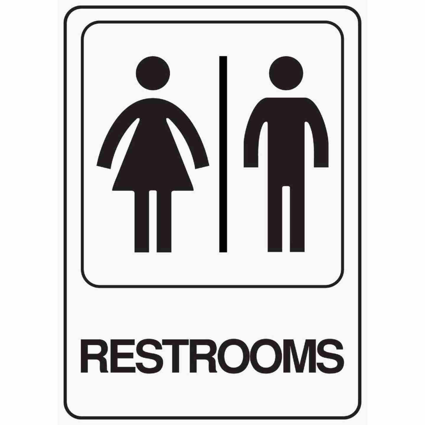 Hy-Ko Deco Series Heavy-Duty Plastic Sign, Restrooms Image 1