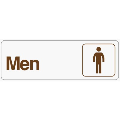 Hy-Ko Deco Series Plastic Restroom Sign, Men
