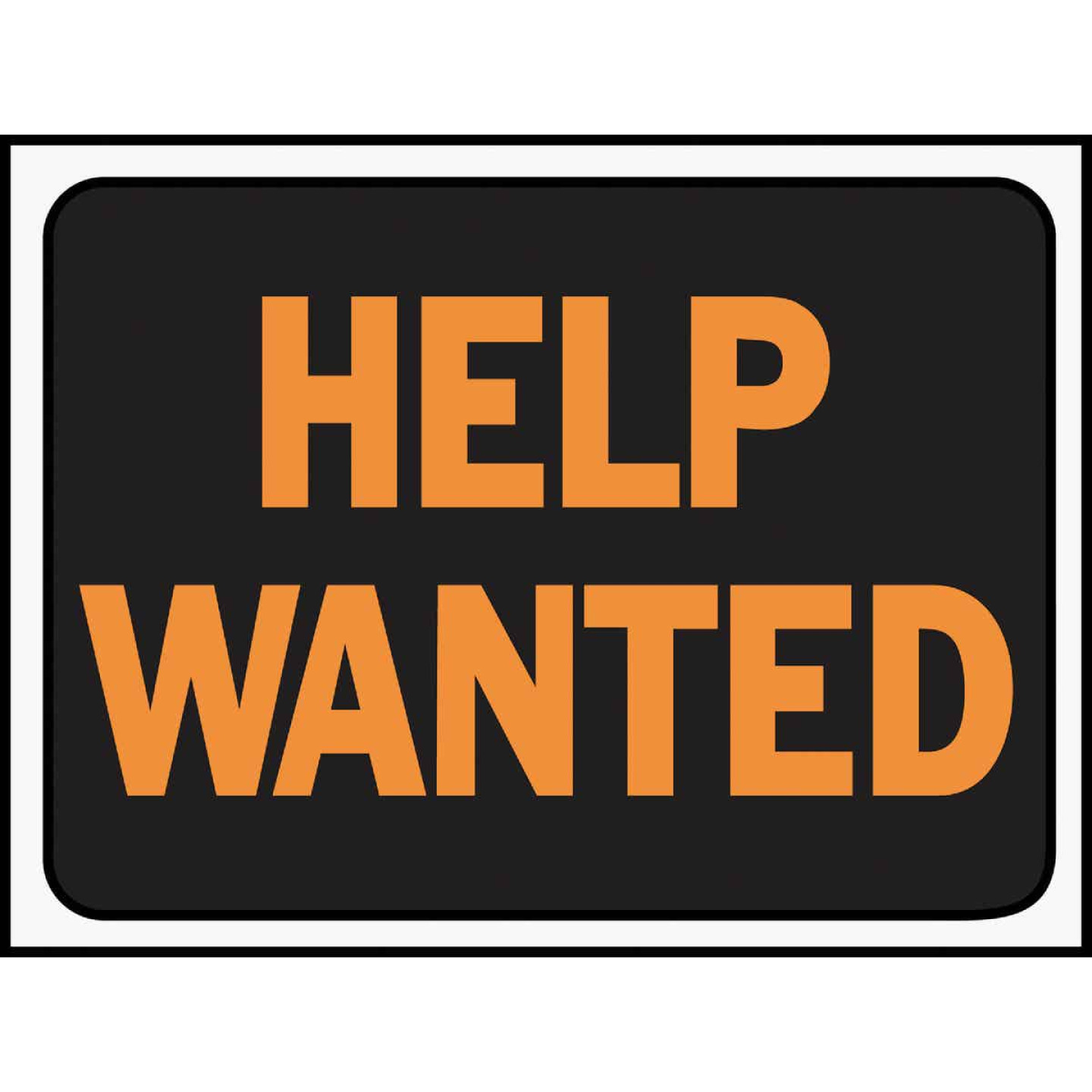 Hy-Ko Plastic Sign, Help Wanted Image 1