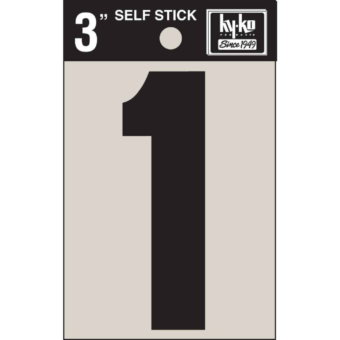 Hy-Ko Vinyl 3 In. Non-Reflective Adhesive Number One Image 1