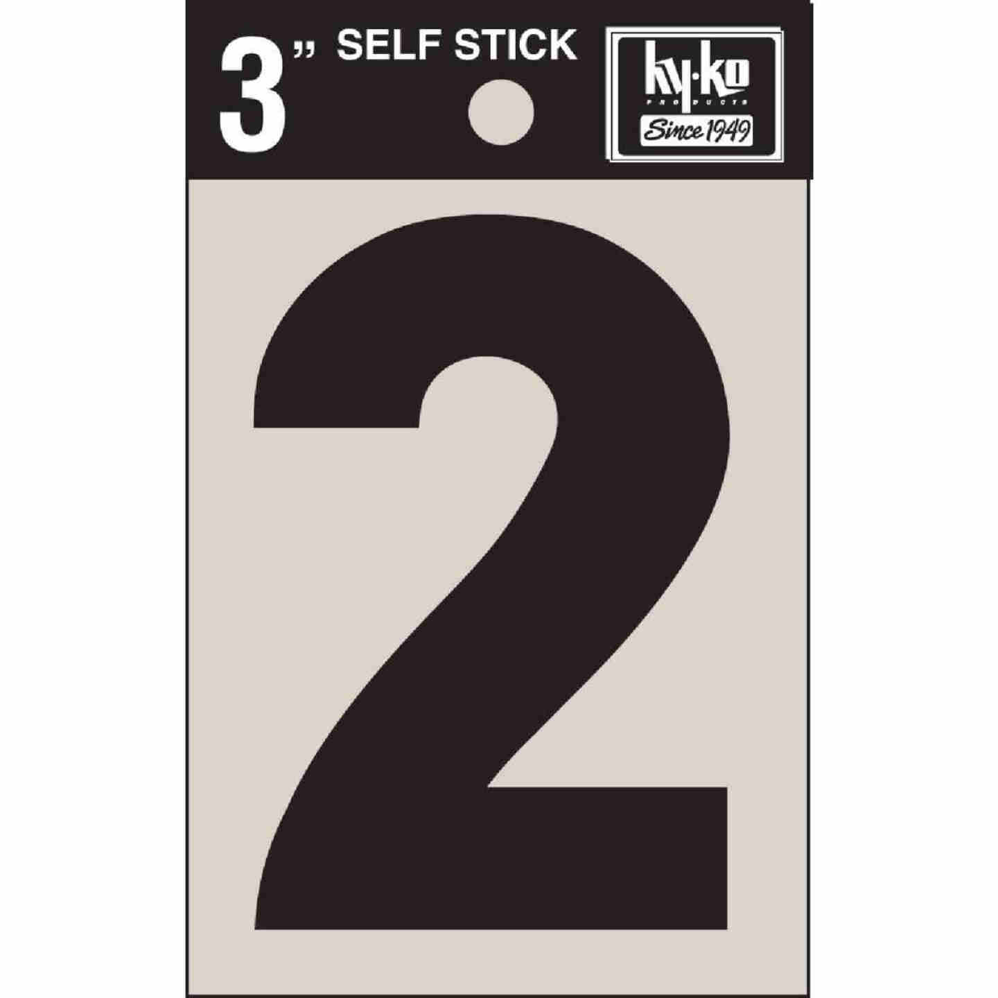 Hy-Ko Vinyl 3 In. Non-Reflective Adhesive Number Two Image 1