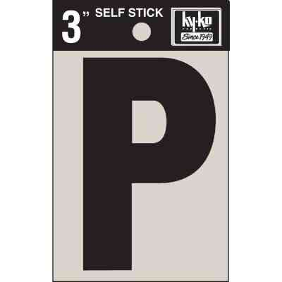 Hy-Ko Vinyl 3 In. Non-Reflective Adhesive Letter, P