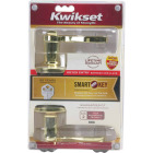Kwikset Signature Series Polished Brass Lido Entry Door Lever with Smartkey Image 4