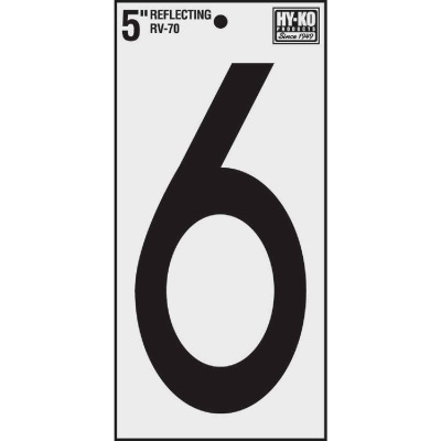 Hy-Ko Vinyl 5 In. Reflective Adhesive Number Six