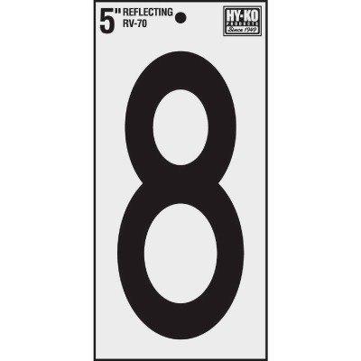 Hy-Ko Vinyl 5 In. Reflective Adhesive Number Eight