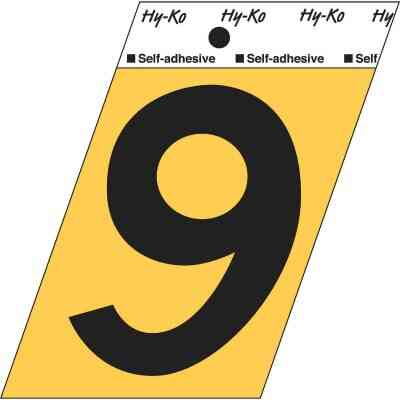 Hy-Ko Aluminum 3-1/2 In. Non-Reflective Adhesive Number Nine