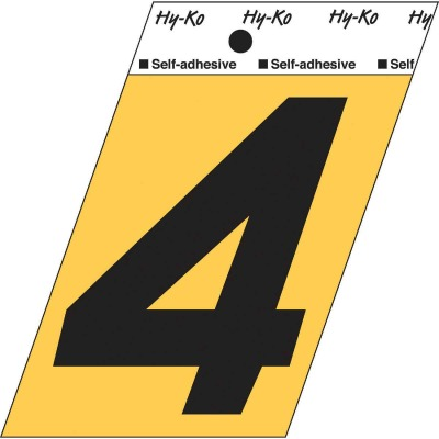 Hy-Ko Aluminum 3-1/2 In. Non-Reflective Adhesive Number Four