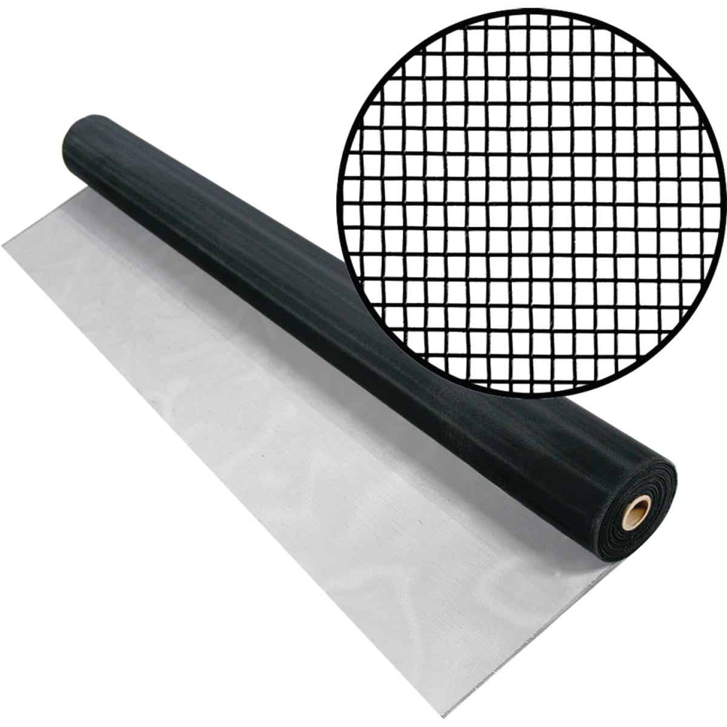 Phifer 36 In. x 100 Ft. Black Aluminum Screen Image 1