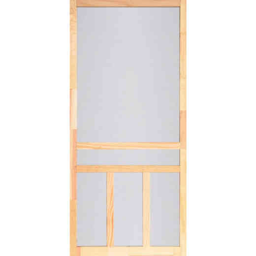 Screen Tight Creekside 30 In. W x 80 In. H x 1 In. Thick Natural Fingerjoint Wood T-Bar Screen Door