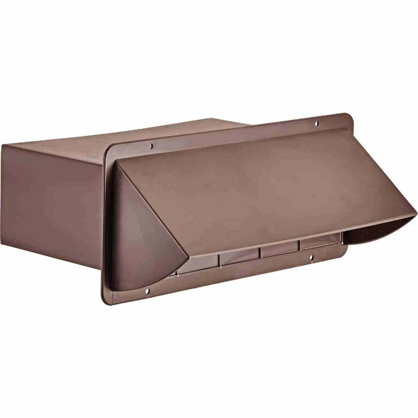 Lambro 3-1/4 In. x 10 In. Brown Plastic Kitchen Wall Vent Cap with Damper Image 1