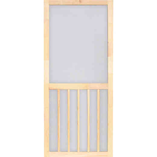 Screen Tight 5-Bar 32 In. W x 80 In. H x 1 In. Thick Natural Wood Screen Door Screen