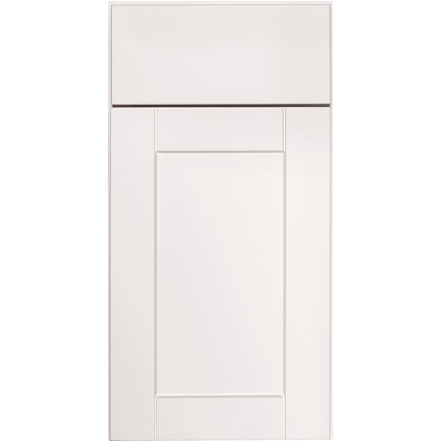 Continental Cabinets Andover Shaker 36 In. W x 12 In. H x 12 In. D White Thermofoil Bridge Wall Kitchen Cabinet Image 3