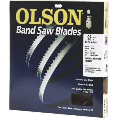 Olson 93-1/2 In. x 3/16 In. 10 TPI Regular Flex Back Band Saw Blade