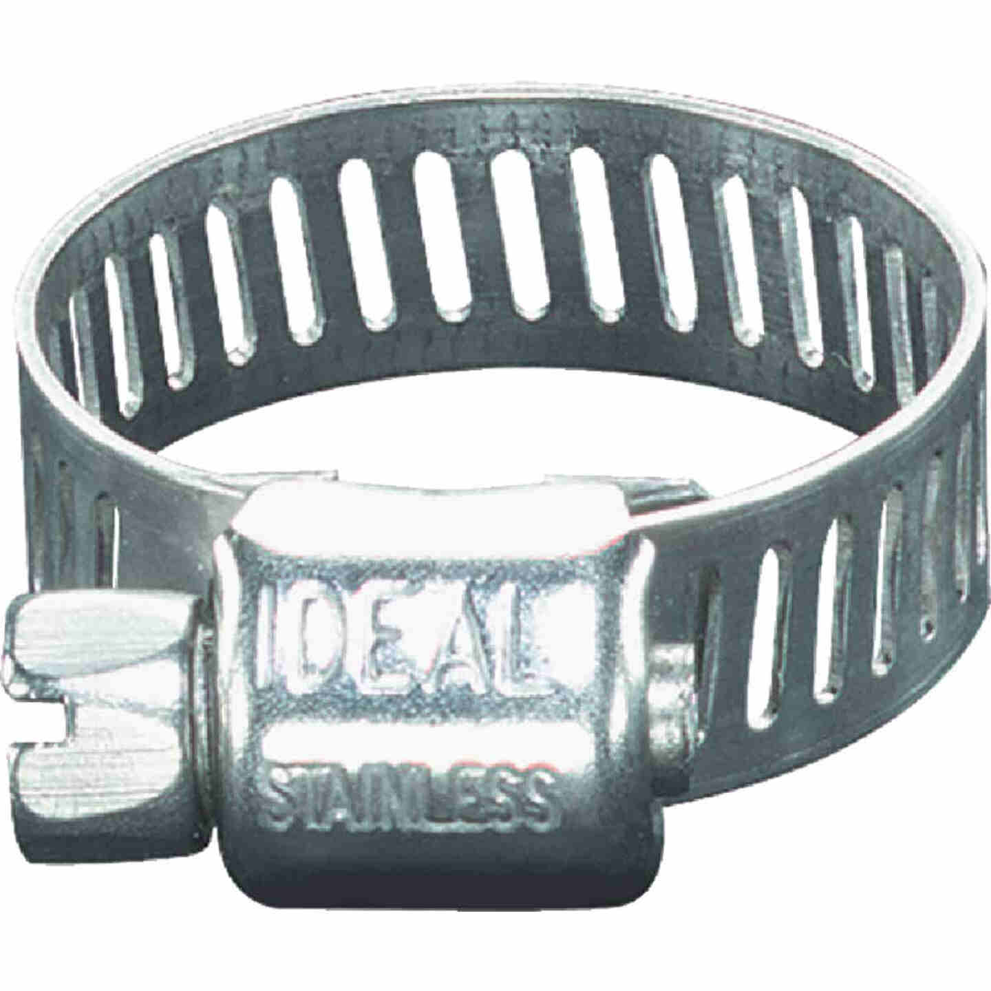 Ideal 5/16 In. - 5/8 In. Stainless Steel Micro-Gear Hose Clamp w/Zinc-Plated Carbon Steel Screw Image 1