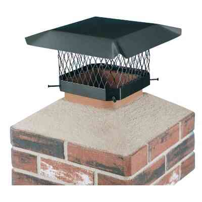 Shelter 13 In. x 13 In. Black Galvanized Steel Chimney Cap