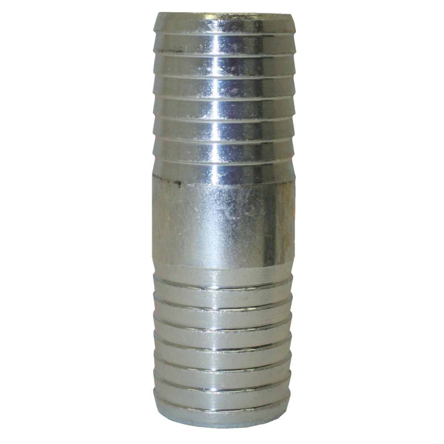 Merrill 1-1/4 In. x 1-1/4 In. Barb Insert Galvanized Coupling Image 1