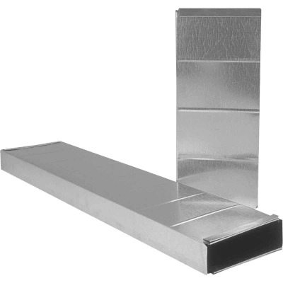 Imperial 30 Ga. 2-1/4 In. x 12 In. x 24 In. Galvanized Stack Duct