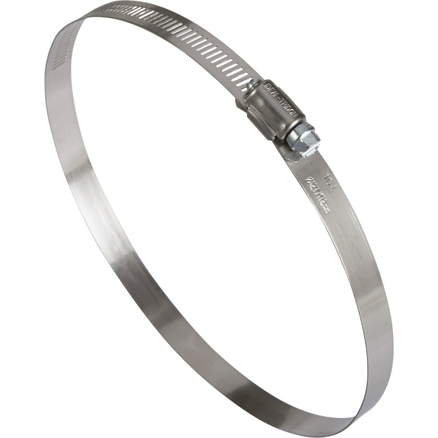 Ideal 5 In. - 7 In. 57 Stainless Steel Hose Clamp with Zinc-Plated Carbon Steel Screw Image 1