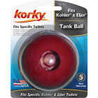 Korky Red Chlorazone Rubber Tank Ball  Image 2