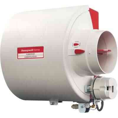 Honeywell Home 10.94 In. W. x 12.75 In. H. x 9 In. D. Whole House Flow-Thru Bypass Furnace Humidifier