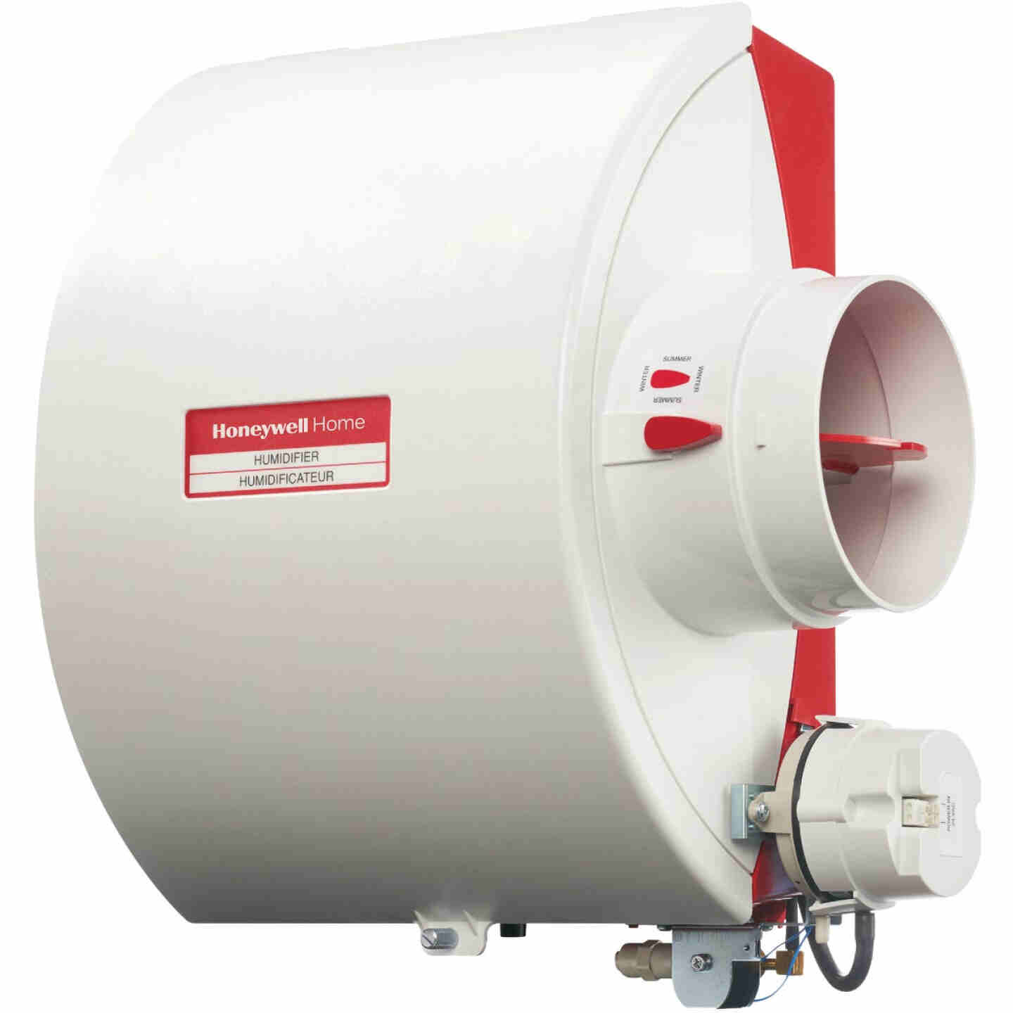 Honeywell Home 12.15 In. W. x 15.68 In. H. x 10.9 In. D. Whole House Flow-Thru Bypass Furnace Humidifier Image 1