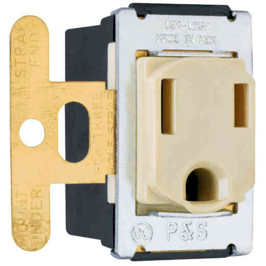 Pass and Seymour 15A Ivory Residential Grade 5-15R Single Outlet