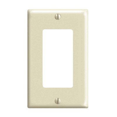 Leviton Decora 1-Gang Nylon Rocker Decorator Wall Plate, Ivory