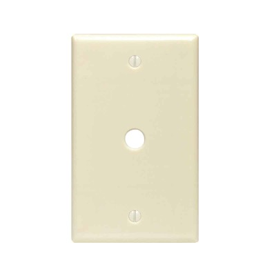 Leviton 1-Gang Plastic Ivory Telephone/Cable Wall Plate with 0.312 In. Hole