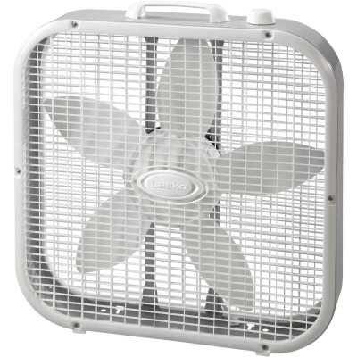 Lasko 20 In. 3-Speed White Box Fan
