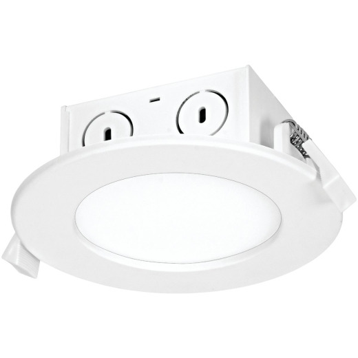 Satco 4 In. Direct Wired IC Rated White 4000K LED Recessed Light Kit