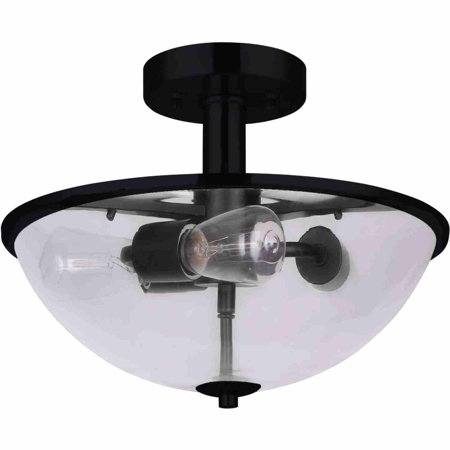 Home Impressions 16.5 In. Matte Black Semi-Flush Mount Ceiling Light Fixture Image 1