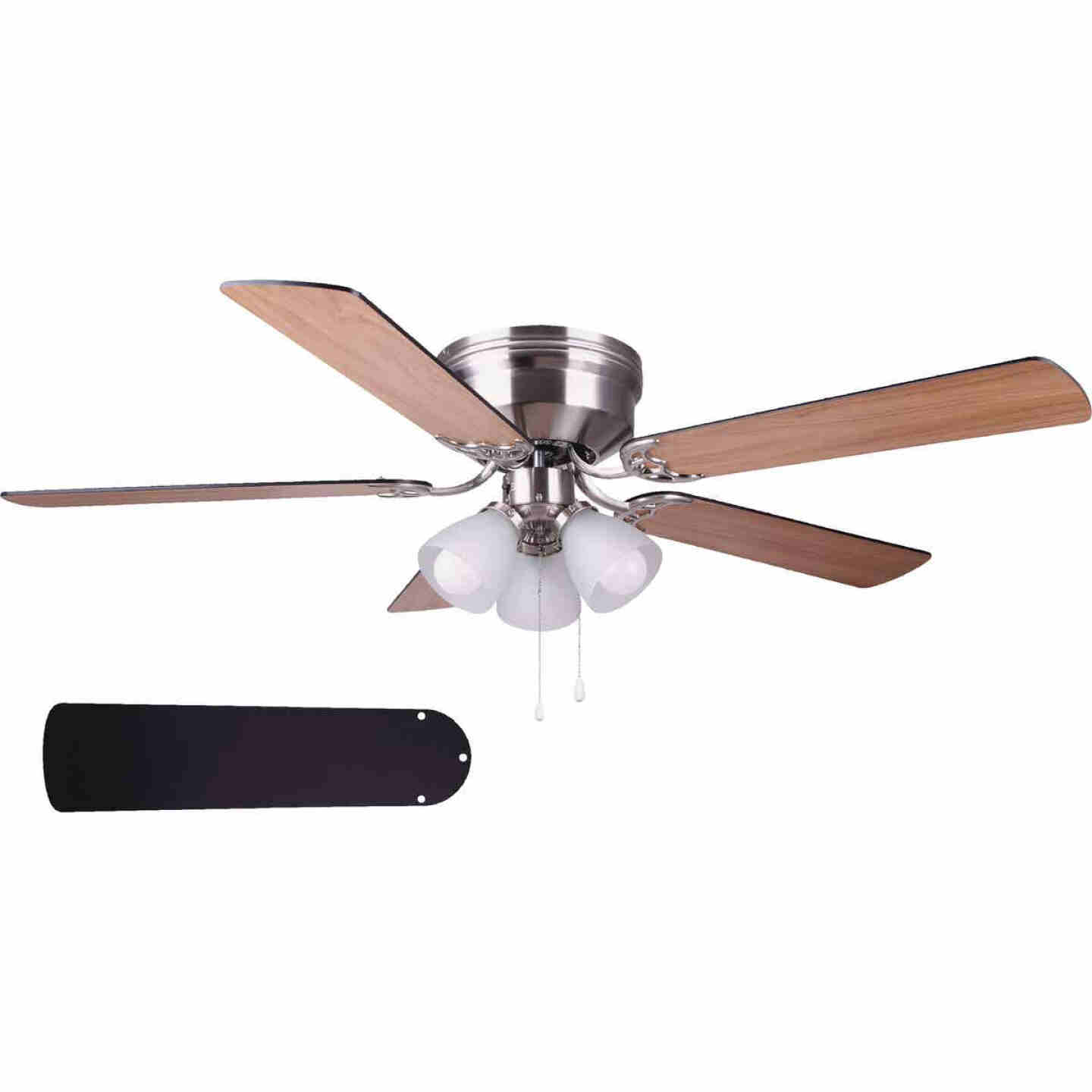 Home Impressions Adobe 52 In. Brushed Nickel Ceiling Fan with Light Kit Image 1