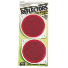 Hy-Ko 3-1/4 In. Dia. Round Red Bracketed Nail-On Reflector (2-Pack) Image 1