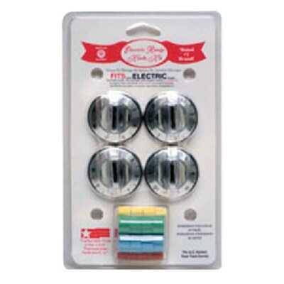 Range Kleen Chrome Replacement Electric Range Knob Kit (4 Piece)